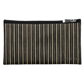 'Circus' Night-Mink-Stripe's-Conservative-Cosmetic Makeup Bag