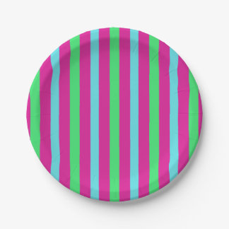 Circus party stripes paper plate