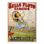 Circus Performance Vintage 1921 Poster