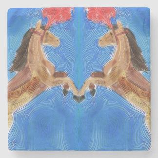 Circus Ponies Stone Coaster