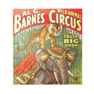 Circus Poster Notepad