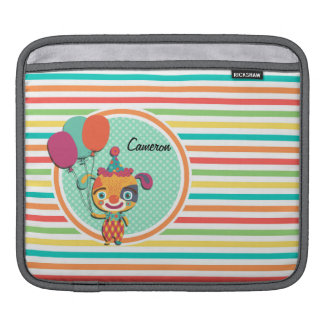 Circus Puppy Bright Rainbow Stripes Sleeves For iPads