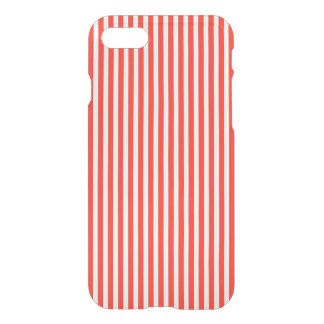 Circus Red and White Cabana Stripes iPhone 7 Case