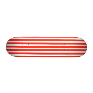 Circus Red and White Cabana Stripes Skate Board Deck