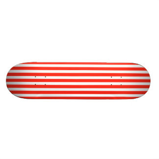 Circus Red and White Cabana Stripes 19.7 Cm Skateboard Deck