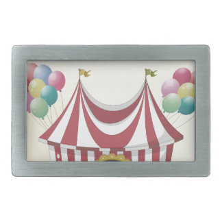 Circus retro poster belt buckle