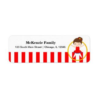 Circus Return Address Label