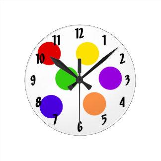 Circus Round Clock