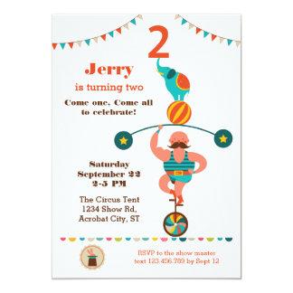 Circus Second Birthday Invitation