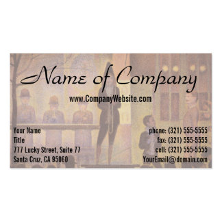 Circus Sideshow by Georges Seurat Pack Of Standard Business Cards