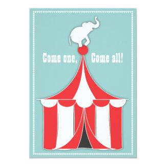 Circus Tent & Elephant Kids Birthday Party 13 Cm X 18 Cm Invitation Card