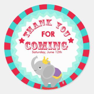 Circus Thank you favor tag
