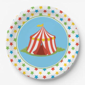 Circus Theme   Big Top   Circus Tent Paper Plate