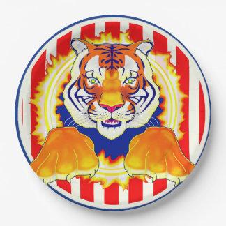 Circus Tiger paper plate