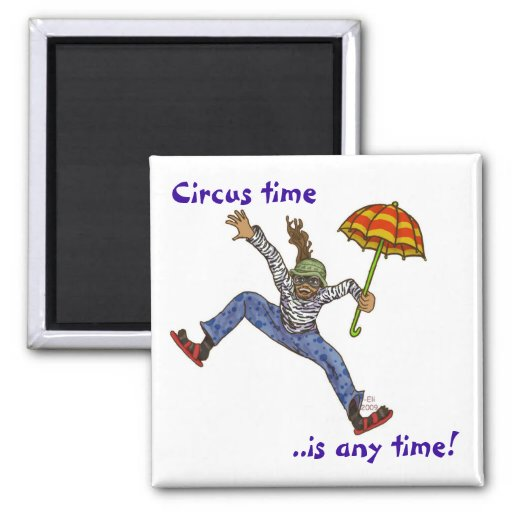 Circus time refrigerator magnets