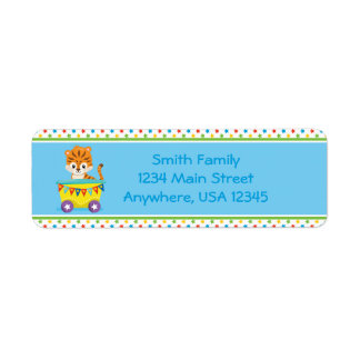 Circus Train | Baby Hippo |  Personalized Return Address Label