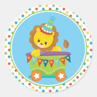 Circus Train | Lion Round Sticker