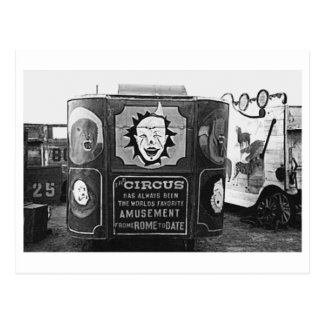 Circus Wagon Vintage 1937 Montana Photo Postcard