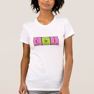 Ciri periodic table name shirt