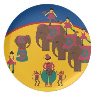 Cirque de Martzkins Elephant Plate