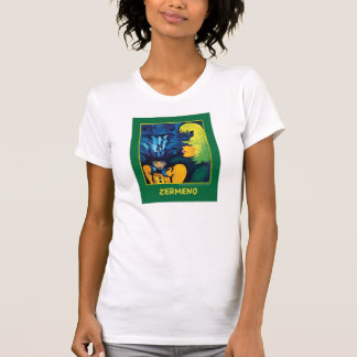"""Cirque Mère Et Enfant"" (Dark Green) by Zermeno T-Shirt"