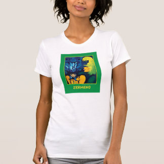 """Cirque Mère Et Enfant"" (Medium Green) by Zermeno T-Shirt"