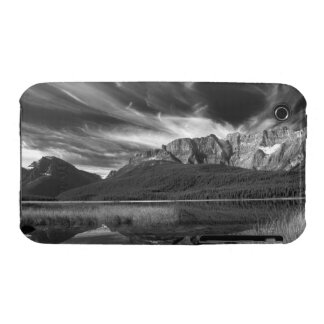 Cirrus clouds over Waterfowl Lake, Banff iPhone 3 Cases