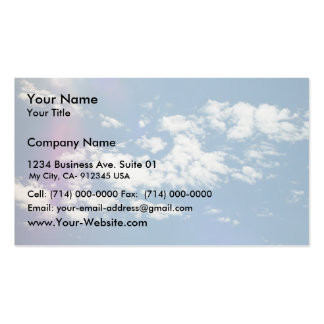 Cirrus Clouds With Lens Flare Business Cards