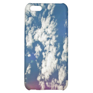 Cirrus clouds with lens flare cover for iPhone 5C