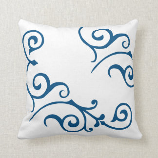 Cirrus Ivory (Blue) Pillow