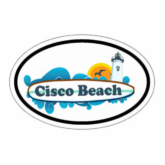 Cisco Beach Oval Design. Standing Photo Sculpture