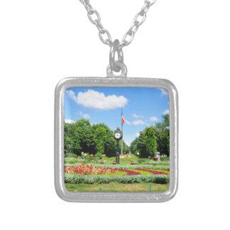 Cismigiu Park in Bucharest, Romania Silver Plated Necklace