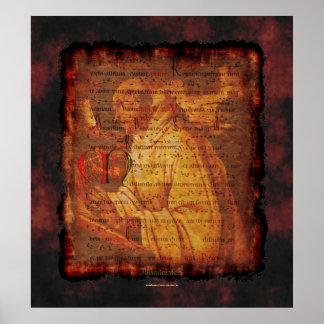 Cistercian Monk & Sacred Music Religious Art Print
