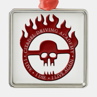 Citadel Driving Academy - Red Metal Ornament