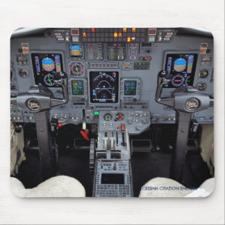 Citation Business Jet Cockpit Mouse Pad