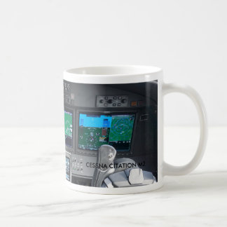 Citation M2 Jet Cockpit Instrument Panel Coffee Mug