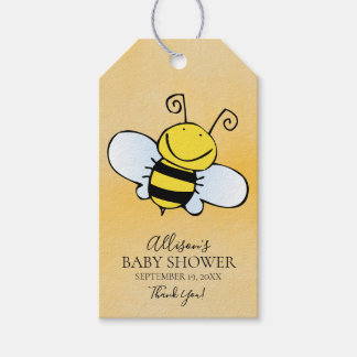 Cite Bear  Baby Shower Favor Gift Tag