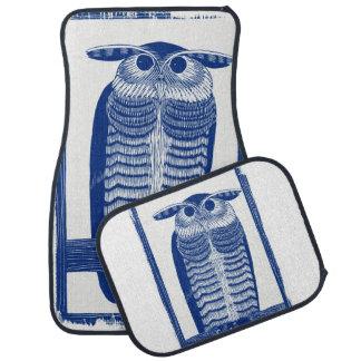 Cite Modern Owl In Blue Car Mat