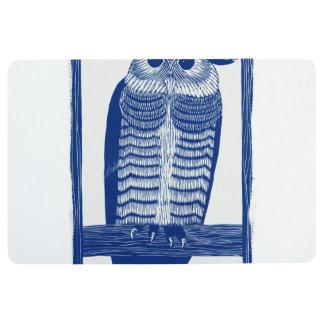 Cite Modern Owl In Blue Floor Mat