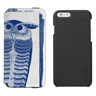 Cite Modern Owl In Blue Incipio Watson™ iPhone 6 Wallet Case