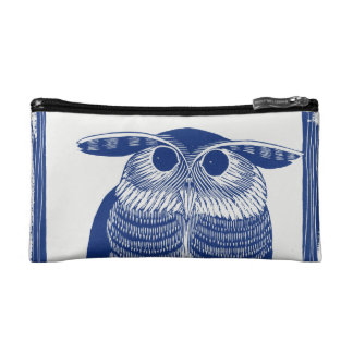 Cite Modern Owl In Blue Makeup Bag