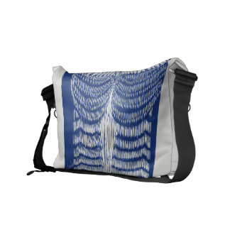 Cite Modern Owl In Blue Messenger Bag