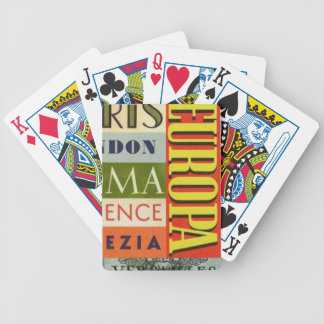 Cities of Europe Bicycle Playing Cards