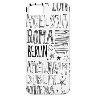 Cities of Europe Chic Modern Typography City Gifts iPhone 5 Covers