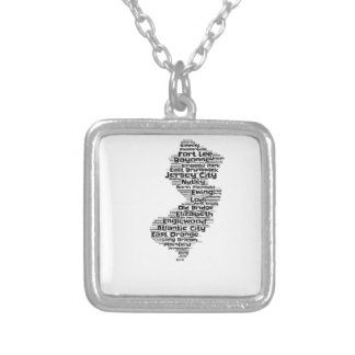Cities of New Jersey Silver Plated Necklace