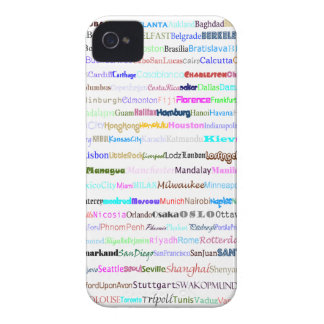 Cities Of The World Text Design II Blackberry Bold iPhone 4 Case-Mate Cases