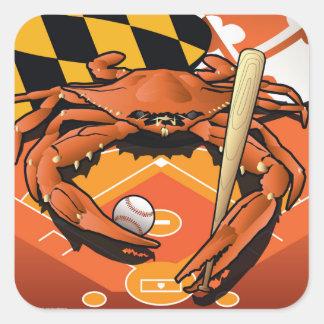 Citizen Crab Oriole, Celebrating Baseball Square Sticker
