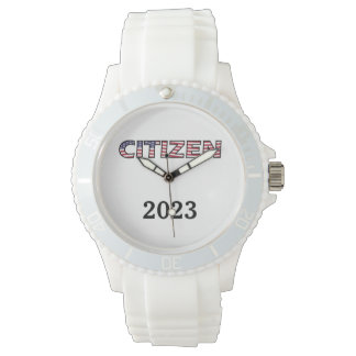 Citizen Flag Text with Year Watch