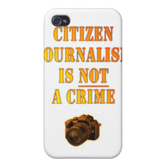 Citizen Journalism is NOT a crime iPhone 4 Case