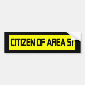 Citizen Of Area 51 Bumper Sticker
